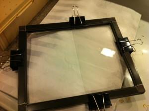 Plastic in frame