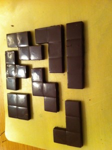 Chocolate Tetris Pieces